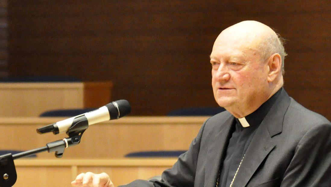 il card. Gianfranco Ravasi durante il corso Discerning Leadership presso la Curia Generale dei gesuiti a Roma