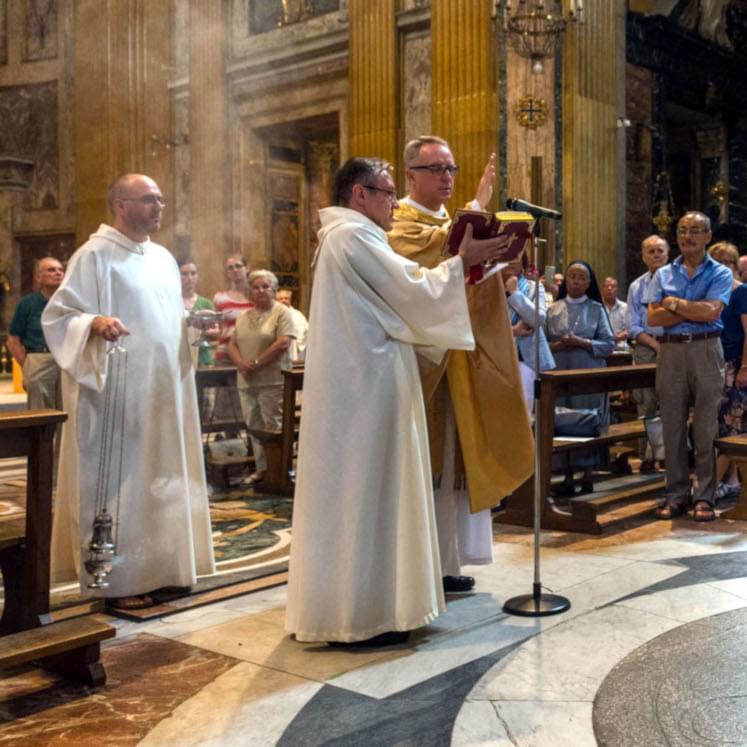 Solemn celebration in a Jesuit church