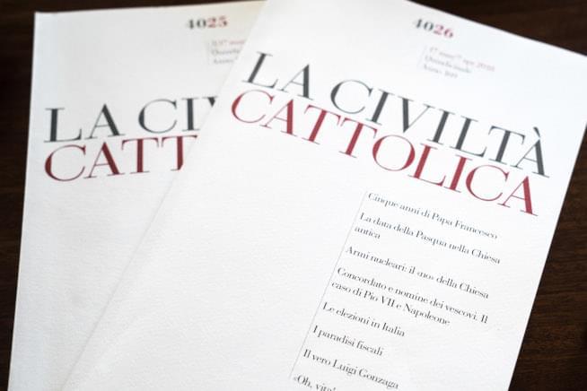 Issues of the Jesuit magazine La Civiltà Cattolica