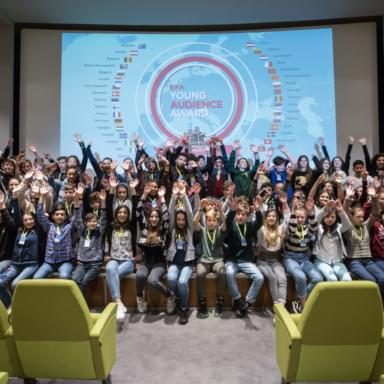 Young people at an event organized by the Niels Stensen Foundation in Florence