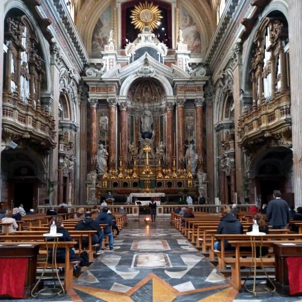 Interno della Chiesa di Maria SS. Immacolata al Gesù Nuovo di Napoli