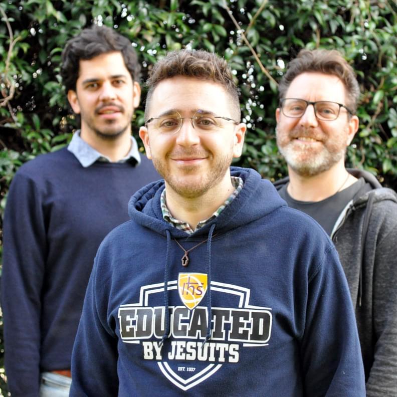 Tre giovani gesuiti