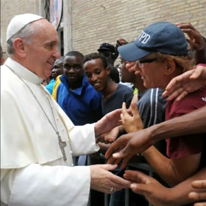 Papa Francesco in visita al Centro Astalli - Servizio dei gesuiti per i Rifugiati
